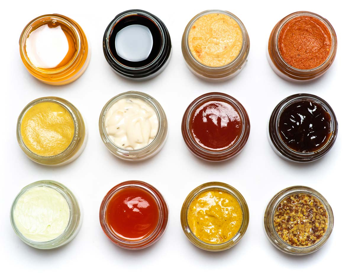 sauces in jars